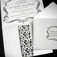 Stationery, black, Invitations, Papel vivo