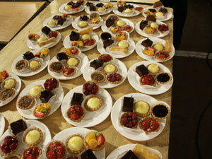 Dessert, Contemporary catering and event planning services, Contemporary catering