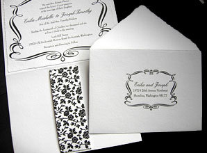 Stationery, black, Invitations, Papel vivo