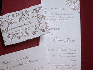 Stationery, red, Invitations, Papel vivo, Blossom