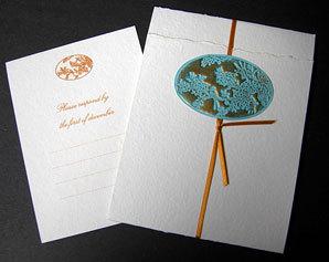Stationery, orange, blue, Invitations, Papel vivo