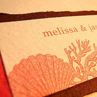 Stationery, orange, Beach, Invitations, Papel vivo