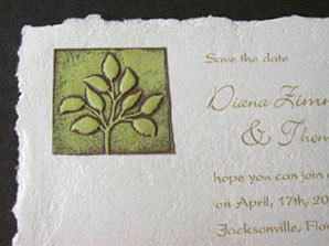 Stationery, green, Invitations, Leaf, Papel vivo, Seal