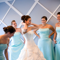 Bridesmaids, Bridesmaids Dresses, Photography, Fashion, blue, Christine marie photography