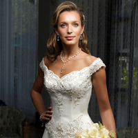 Wedding Dresses, One-Shoulder Wedding Dresses, Fashion, dress, Casablanca bridal, Off the shoulder, Beading, Off the Shoulder Wedding Dresses, Beaded Wedding Dresses