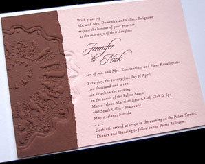 Stationery, pink, brown, Invitations, Papel vivo