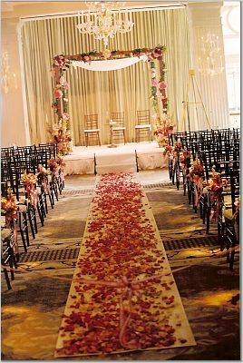 Ceremony, Flowers & Decor, pink, red