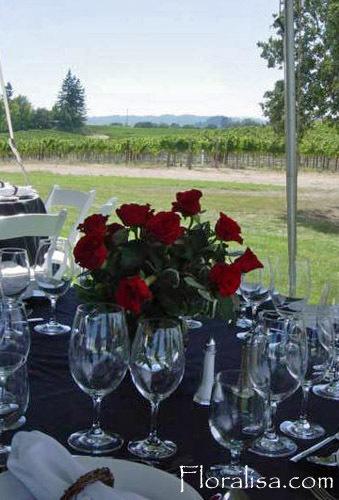 Flowers & Decor, red, Centerpieces, Flowers, Centerpiece, Rose, Floralisa weddings