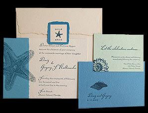 Stationery, blue, Beach, Beach Wedding Invitations, Invitations, Papel vivo