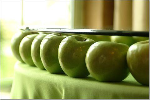 green, Apples