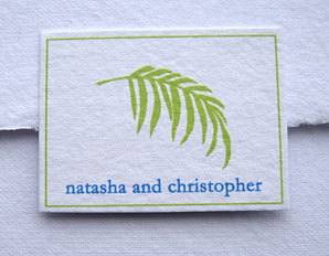 Stationery, blue, green, Invitations, Leaf, Papel vivo