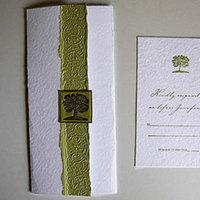 Stationery, green, Invitations, Tree, Papel vivo