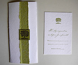 Stationery, green, Invitations, Tree, Papel vivo