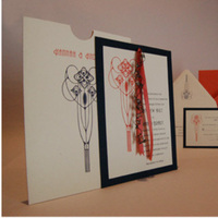 Stationery, orange, blue, Invitations