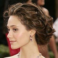 Updo, Wavy Hair