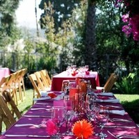 Reception, Flowers & Decor, Decor, orange, pink