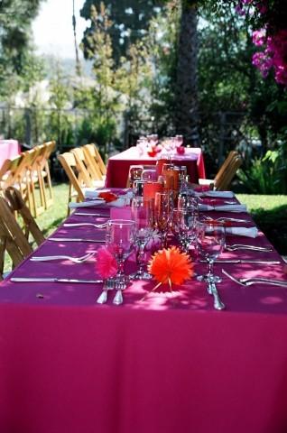Reception, Flowers & Decor, Decor, orange, pink