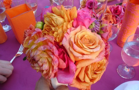 Flowers & Decor, orange, pink, Centerpieces, Flowers, Centerpiece
