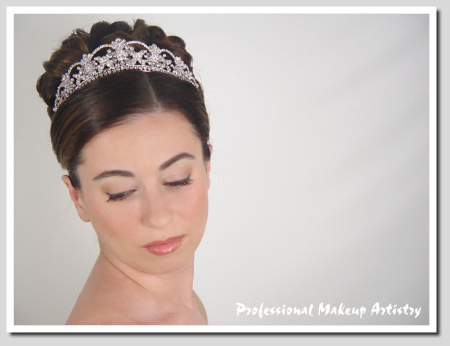 Beauty, Jewelry, Tiaras, Makeup, Updo, Hair, Tiara, Professional makeup artistry
