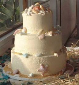 Cakes, white, cake, Beach, Beach Wedding Cakes, Shells, The cake collection