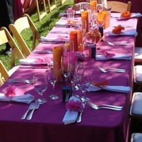 Reception, Flowers & Decor, Decor, orange, pink, Flowers