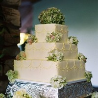 Cakes, white, green, cake, Decadence