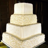 Cakes, white, gold, cake, Decadence