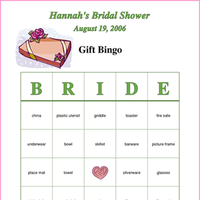 Bridal Shower, Gift bingo