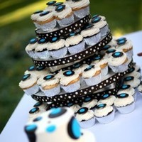 Cakes, blue, brown, cake, Decadence, Circles