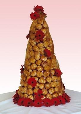 Cakes, red, cake, Croquembouche, Decadence