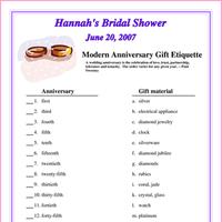 Etiquette, Bridal Shower, Gift, Anniversary