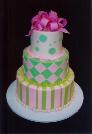 Cakes, pink, green, cake, Carolyn wong custom cakes desserts