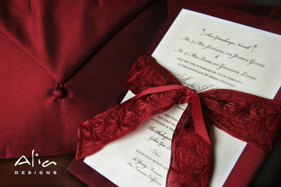 Stationery, red, Invitations, Alia designs