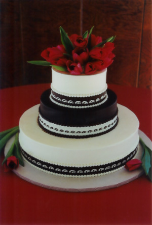 Cakes, red, brown, cake, Carolyn wong custom cakes desserts
