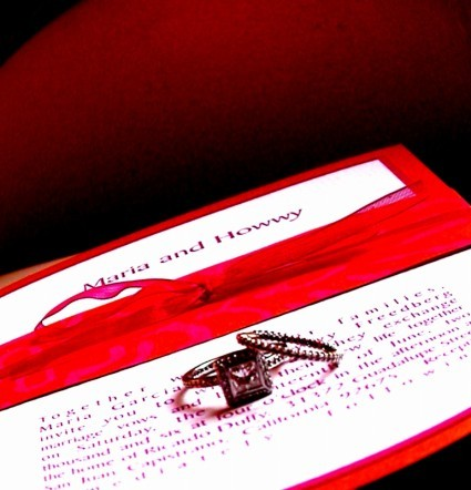 Stationery, red, Invitations, Rings