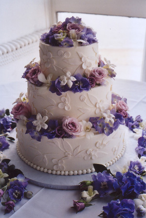Cakes, purple, cake, Garden Wedding Cakes, Carolyn wong custom cakes desserts
