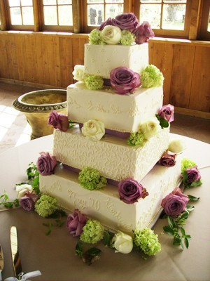 Cakes, purple, green, cake, Decadence