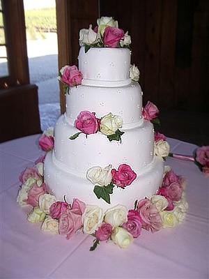 Cakes, white, pink, cake, Decadence