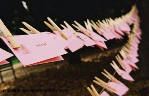 Stationery, pink, Place Cards, Placecards