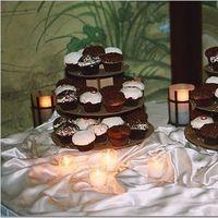 Cakes, white, brown, cake, Dessert, Cupcake