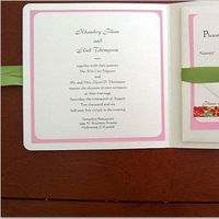 Stationery, pink, green, invitation, Invitations