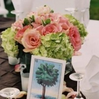 pink, green, Centerpieces, Garden Wedding Flowers & Decor, Summer Wedding Flowers & Decor
