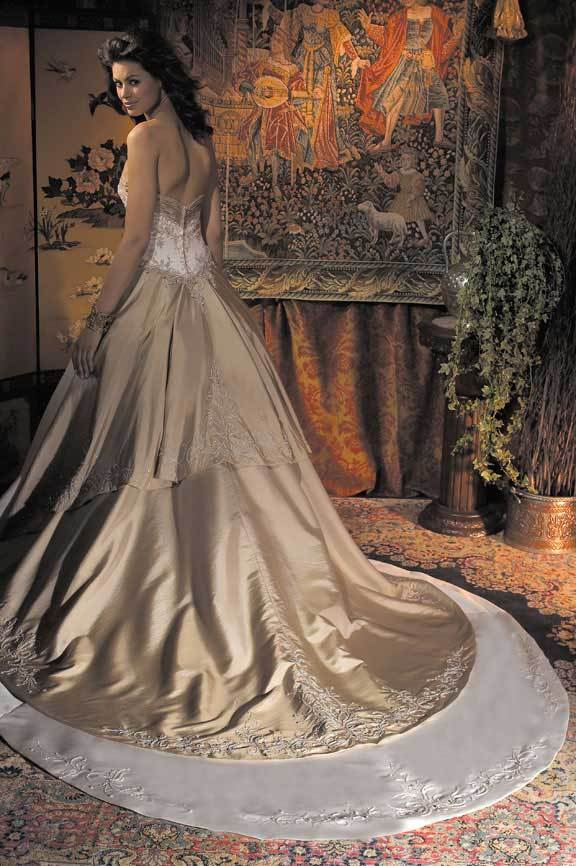 Wedding Dresses, Fashion, gold, dress, Allure Bridals
