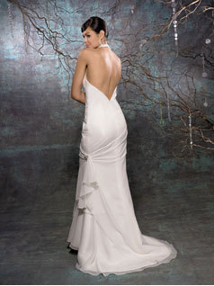 Wedding Dresses, Fashion, dress, Train, Halter, Allure Bridals, Sheath, halter wedding dresses, Sheath Wedding Dresses