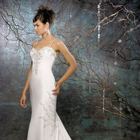 Wedding Dresses, Fashion, dress, Spaghetti straps, Beading, Allure Bridals, Sheath, Beaded Wedding Dresses, Spahetti Strap Wedding Dresses, Sheath Wedding Dresses