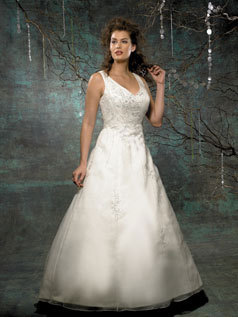 Wedding Dresses, A-line Wedding Dresses, Fashion, dress, A-line, V-neck, V-neck Wedding Dresses, Allure Bridals