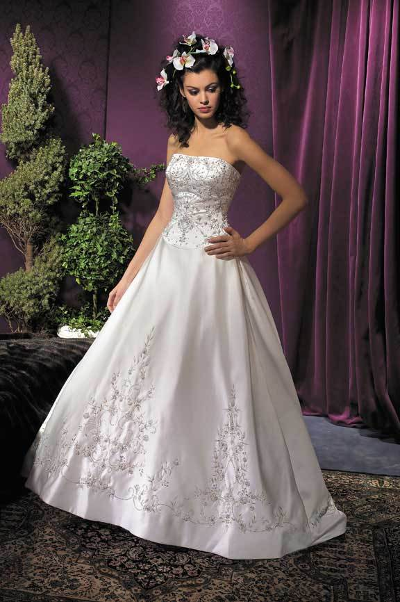 Wedding Dresses, Fashion, dress, Strapless, Strapless Wedding Dresses, Beading, Allure Bridals, Beaded Wedding Dresses