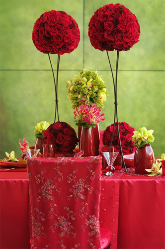 Reception, Flowers & Decor, Decor, red, Neil adams event resources
