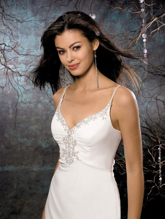 Wedding Dresses, Fashion, dress, Spaghetti straps, Beading, Allure Bridals, Beaded Wedding Dresses, Spahetti Strap Wedding Dresses