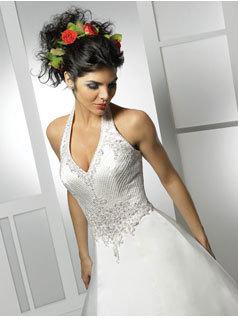 Wedding Dresses, Fashion, dress, Halter, Allure Bridals, halter wedding dresses